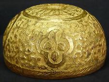 Art ottoman Turquie ?Perse ? Coupe rituelle à offrande bronze ciselé .TOMBAK ?