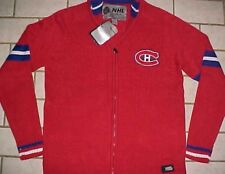 Montreal Canadiens NHL Ilanco Red Blue Team Logo Rouge Full Zipper Sweater M New