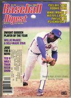 DWIGHT GOODEN NEW YORK METS Baseball Digest Magazine 12/85 REGGIE JACKSON PC
