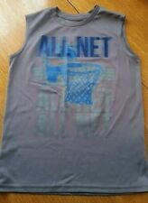 Boys sleeveless shirt 8 gray All Net Basketball design Tek Gear