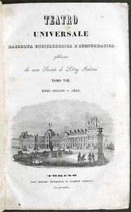Teatro Universale - Raccolta Enciclopedica e Scenografica - Anno 1841 completo