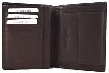 4050d137a157f flache Geldbörse Portemonnaie aus glattem Echt Leder Bifold 170503HF Coffee