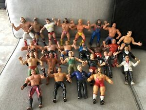 Huge 25 LJN Lot Of 1980's WWF Wrestling Figures. Macho Man, Hogan, And Many More