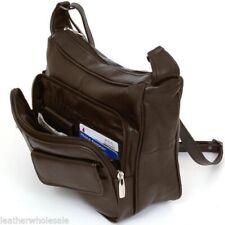 Women's Shoulder Bag Leather Organizer Purse Multiple Pockets Cross Body Handbag