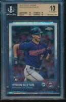 2015 Topps Chrome Byron Buxton SP Rookie RC BGS 10 Pristine #203 Short Print