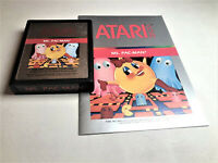 Ms. Pac-Man (Atari 2600, 1982) Cartridge & Manual Tested Ships Free