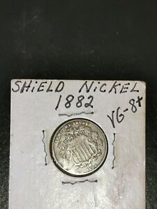 Rare 1882 Shield Nickel ~ U.S.A. Coin * Over 135 Years Old!