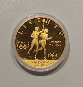 1984-W $10 Olympic Gold Commemorative Gem Proof Condition