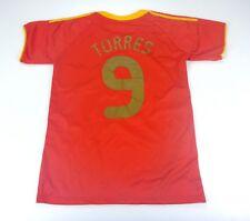 #9 TORRES SPAIN NATIONAL TEAM JERSEY HOME SHIRT BOYS FOOTBALL REPLICA 4+/5