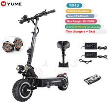 YUME 4S 11 Zoll 60V 3200W DUAL Motor LEISTUNGSFÄHIGER Faltbarer Elektro-Scooter
