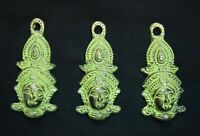 South Dancing Lady Face Wall Hanging Set Handmade Brass Home Wall Decor VR151