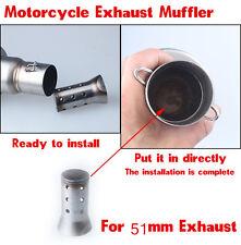 1pcs 51mm Motorcycle Exhaust Muffler Stainless Baffle DB Killer Silencer Muffler