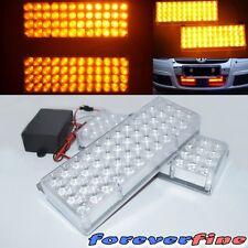 Construction Light 96 LED Amber Grill Bull Bar Top Front 3 Mode Flashing Light