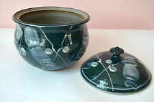Studio Pottery Clay Handmade 1.5 Quart Casserole Dish and Lid Asian Style NVC25