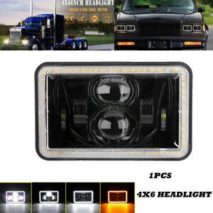 "DOT 4x6"" LED LED Headlight Projector Hi/Lo Beam DRL  Lamp For Chevrolet GMC"