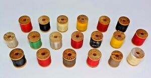 19 Vintage Wood Spools Belding Corticelli Size A Nymo Nylon Fly Tying Thread