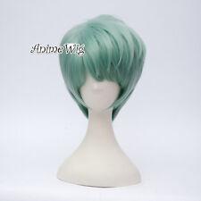 For Mystic Messenger V Short Hair 30CM Light Green Anime Manga Cosplay Wig