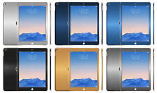 Brushed Metal Skin Sticker For iPad Air 2 Wrap Decal Cover Case Protector