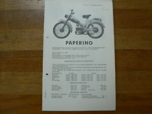 PAPERINO 1955 ONWARDS SERVICE AND REPAIR GUIDE MOPED BROMFIETS MOFA GREMI