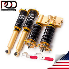 FOR 95-98 NISSAN 240SX S14 JDM ADJUSTABLE DAMPER COILOVERS HIGH LOWER SPRING
