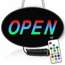 Led Open Sign, Rgb 16Modes Multi-Colors Rf Remote Control-11.6×7.4in Ad Board