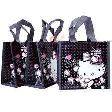 Hello Kitty Party Gift Bag Set 3pc Reusable Grocery bag Sanrio License Small 8in