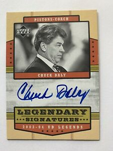 """Chuck Daly 03/04 UD Legends """"Legendary Signatures"""" On Card Auto"""