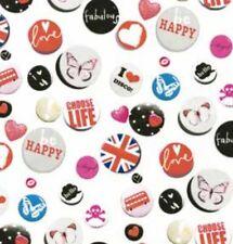 Klebefolie Möbelfolie Buttons bunt 45 cm x 200 cm  Selbstklebende Dekorfolie