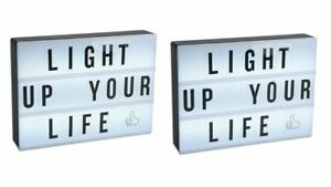 2 x A4 Size Cinema LED Light Up Box Light Up Message Box 200 Characters Included