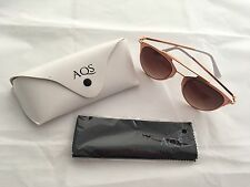 AquaSwiss Women's Alfie Arch Brow Bar Sunglasses Rose Tone
