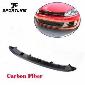 Front Bumper Lip Chin Body Kits Fit for VW Golf 6 VI MK6 GTI 10-15 Carbon Fiber