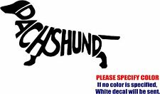"""Dachshund Letters Silhouette Graphic Die Cut decal sticker Car Truck Boat 12"""""""