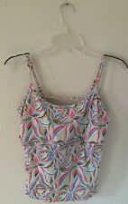 WHITE SIERRA PRINTED FITNESS TOP   SIZE EXTRA LARGE