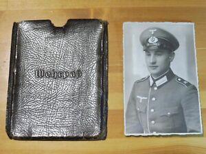 Militaria 2.WK Wehrmacht Wehrpass Schutzhülle Etui Mappe