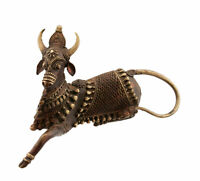 Art Dhokra Mucca Nandi Art Tribale Orissa India IN Filo Di Ottone Forge 7106
