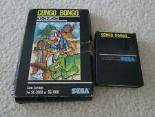Congo Bongo ( SEGA SG-1000 , SC-3000 ) Game in Box SEGA SG 1000