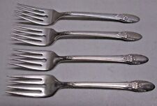 First Love Silverplate International Silver IS 1937 Lot of 4 Salad Forks Fork