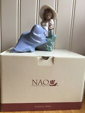 NAO LLADRO Listening To The Birds Songs 1042 Perfect Complete With Original Box