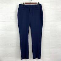 Calvin Klein SZ 8 Navy Blue Tapered Leg Flat Front High Rise Trouser Dress Pants