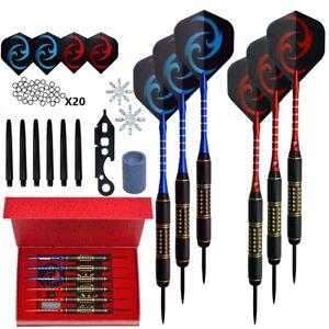 6PCS/ Sets 28g Professional Steel Tip Darts Aluminum Shaft Dart Flights Sports