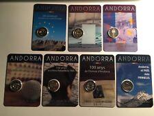 LOT 7 X 2 EURO ANDORRE 2014 + 2015 X2 + 2016 X2 + 2017 X2 COMMEMORATIVE NEUVE