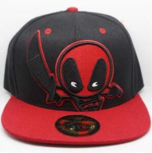 Deadpool Logo Adjustable Baseball Cap Hip Hop Snapback Hat Cool Gift
