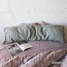 BODY PILLOW SHAM with ties Pregnancy pillow case, linen pillow cover 100% LINEN