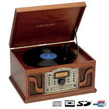 TOCADISCOS CLÁSICO GRABADOR VINILO RETRO USB CASETTE CD MP3 RADIO LAUSON CL123