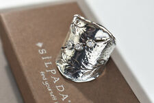RARE SIZE 10 Silpada Nature's Majesty CZ  Leaf Sterling Silver Ring R3136 NEW