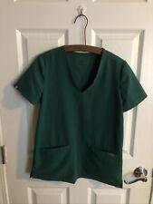 Figs Technical Collection Short Sleeve Hunter Green Women's Xs Scrub Top Shirt