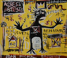 Neo expressionism painting, 2 x signed Jean Michel Basquiat, w COA