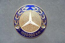 Auto Plakette - Mercedes Benz 1000000 km  - vintage car Badge