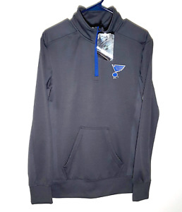 St Louis Blues Track Jacket by NHL | Polyester Pullover 1/4 Zip | Mens Small
