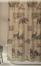 Bear Moose Fabric Shower Curtain Design Home Mountain Lodge Woodland